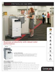 Business productivity with robust color performance - Lexmark