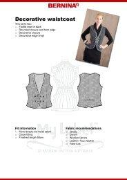 Modification Waistcoat - My Label 3D Fashion Pattern Software