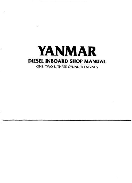 Yanmar 2GM Service Manual (64 megabyte PDF)