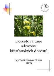Výroční zpráva DU 2005.pdf - Dorostová unie