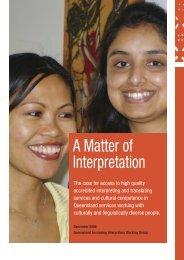 A Matter of Interpretation - Ethnic Communities Council Queensland