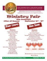Ministry Fair - Church of St. Francis Xavier
