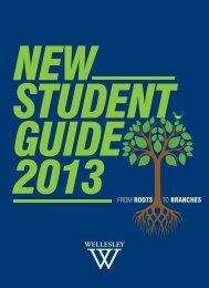 New Student Guide - Wellesley College