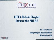 Afcea-Belvoir Chapter State of the PEO EIS
