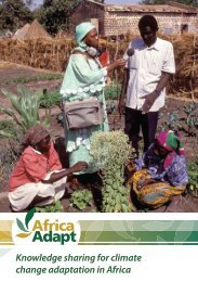 Knowledge sharing for climate change adaptation in Africa