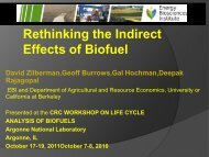 INDIRECT LAND USE: One consideration too many in biofuel ...