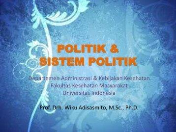 POLITIK & SISTEM POLITIK - Blog Staff UI - Universitas Indonesia