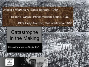Catastrophe in the Making - Institute for Governance and Policy ...
