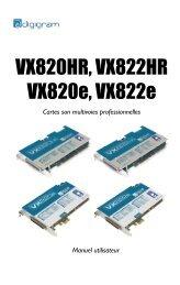 VX820HR, VX822HR VX820e, VX822e