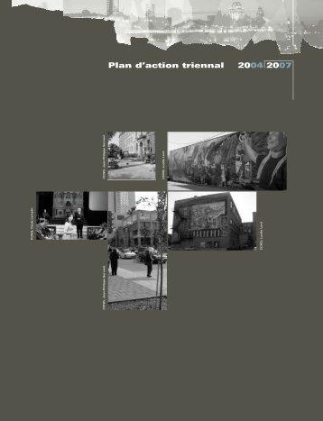 Rapport annuel 2003-2004 Partie III, Plan d'action triennal