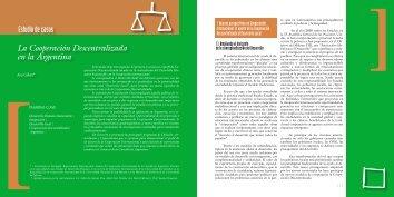 Estudio de casos La Cooperación Descentralizada en la Argentina