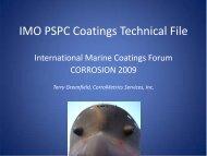 IMO PSPC Coatings Technical File - NSRP