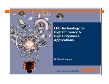 LED Technology for High Efficiency & High ... - investPenang.gov.my