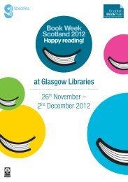 at Glasgow Libraries - Scottish Book Trust