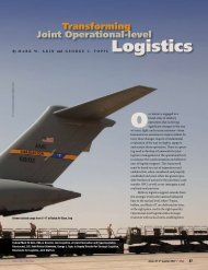 Transforming Joint Operational-level Logistics