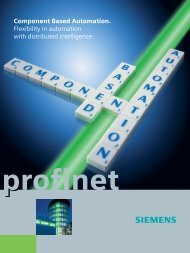 Component Based Automation. Flexibility in automation ... - Siemens