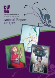 Annual Report - Gippsland Women's Health Service