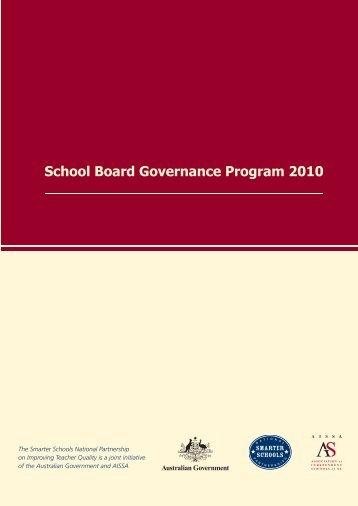 School Board Governance Program 2010 - Association of ...