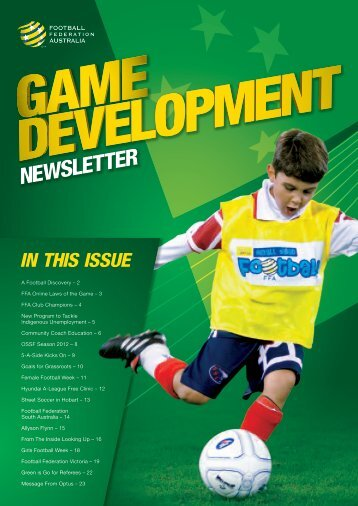 FFA Autumn Newsletter 2012 - Northern NSW Football