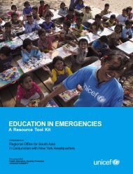 Education in Emergencies: A Resource Tool Kit - Back on Track