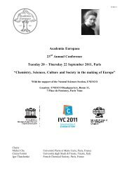 Thursday 22 September 2011, Paris - Academia Europaea