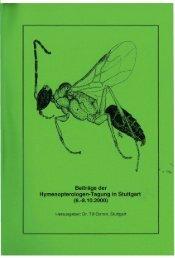 Beiträge der Hymenopterologen-Tagung in Stuttgart (6 ... - DGaaE