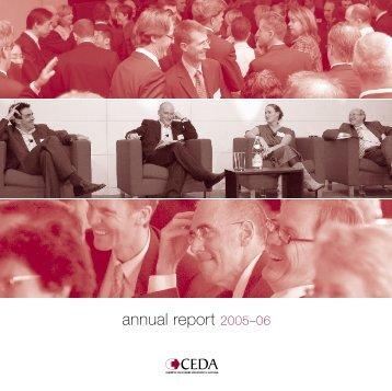 CEDA Annual Report 2005-06