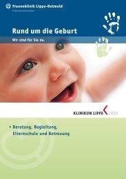 Rund um die Geburt - Klinikum Lippe