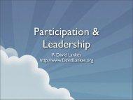 Participation & Leadership