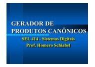 Gerador de Produtos Canônicos - Iris.sel.eesc.sc.usp.br