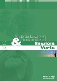 Emplois Verts Emplois étude de fonctions &rémunérations - Campus ...