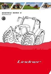 Modellübersicht Geotrac Serie 4 - Lindner Traktoren
