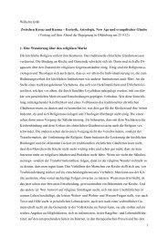 1 Wilhelm Gräb Zwischen Kreuz und Karma - Diakonie im ...