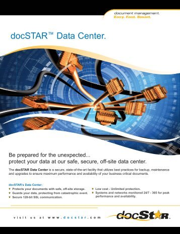 Data Center Sheet 2009:Layout 1.qxd - DocSTAR Document ...