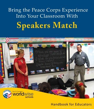 Speakers Match Handbook for Educators - Peace Corps