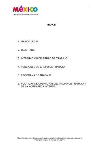 INDICE 1. MARCO LEGAL 2. OBJETIVOS 3. INTEGRACIÓN ... - CPTM