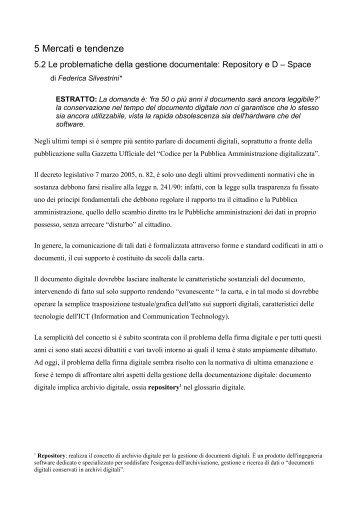 Le problematiche della gestione documentale: Repository ... - Icomit.it