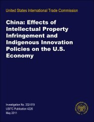 China: Effects of Intellectual Property Infringement and ... - USITC