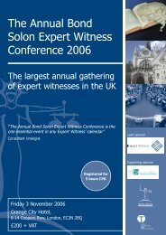 Expert Witness Conference 2006 FULL.pdf - Cornerstone Barristers