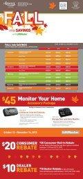 REBATE REBATE Monitor Your Home - Amarr® Garage Doors