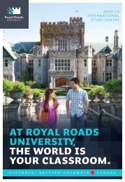 Royal Roads Brochure 2013 - Study Group