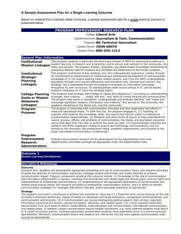Best Sample Assessment Plan Images - Best Resume Examples For Your