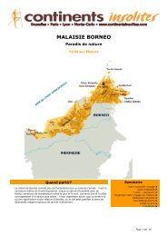 MALAISIE BORNEO - Continents Insolites