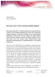 Luscendo erweitert Angebot, August 2010