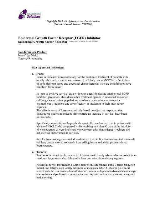 Epidermal Growth Factor Receptor (EGFR) Inhibitor - OptumRx
