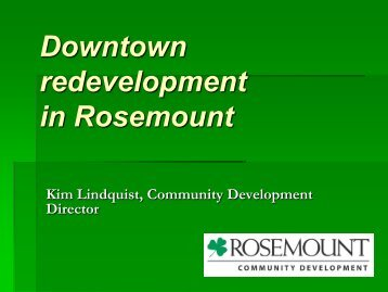 Downtown Redevelopment in Rosemount