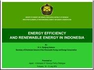 energy efficiency and renewable energy in indonesia
