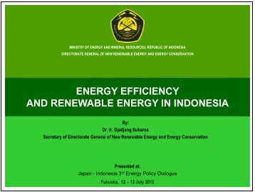 energy efficiency and renewable energy in indonesia
