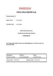 coca cola içecek a.ş. yönetim kurulu denetim komitesi yönetmeliği