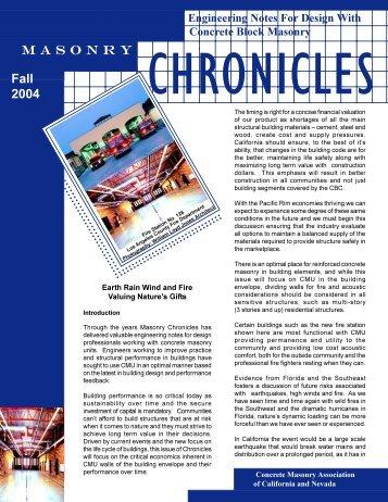 Fall 2004 - Concrete Masonry Association of California and Nevada